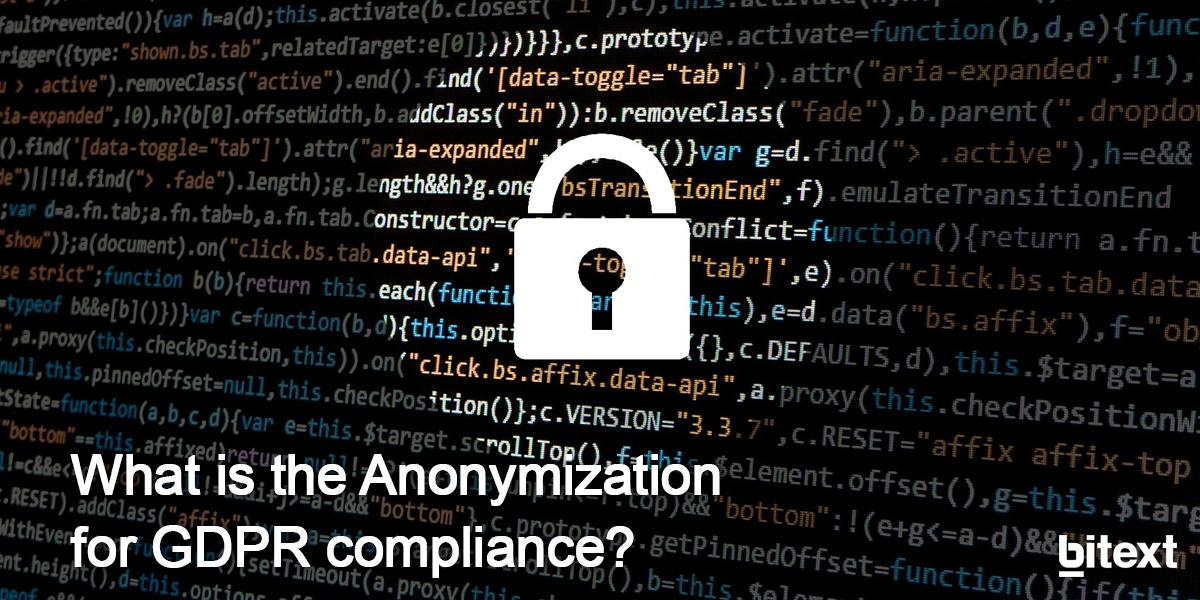 What is the Anonymization for GDPR compliance